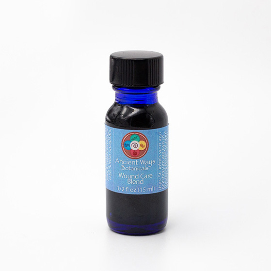 1/2 oz blue vial of wound care body blend