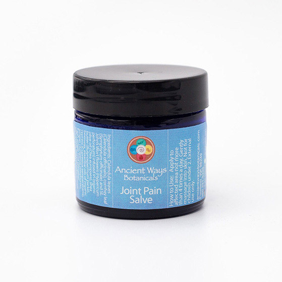 1 oz container of Ancient Ways joint pain salve