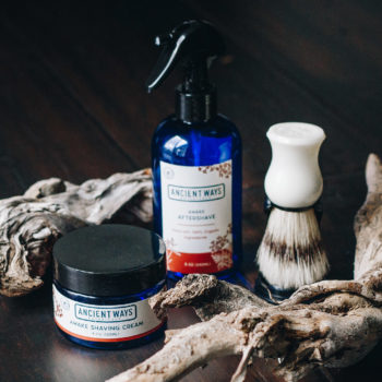 All-natural men's shave kit