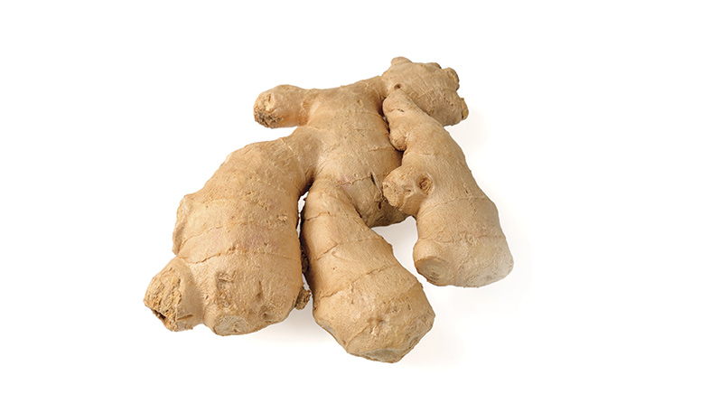 Ginger root used in essential oils